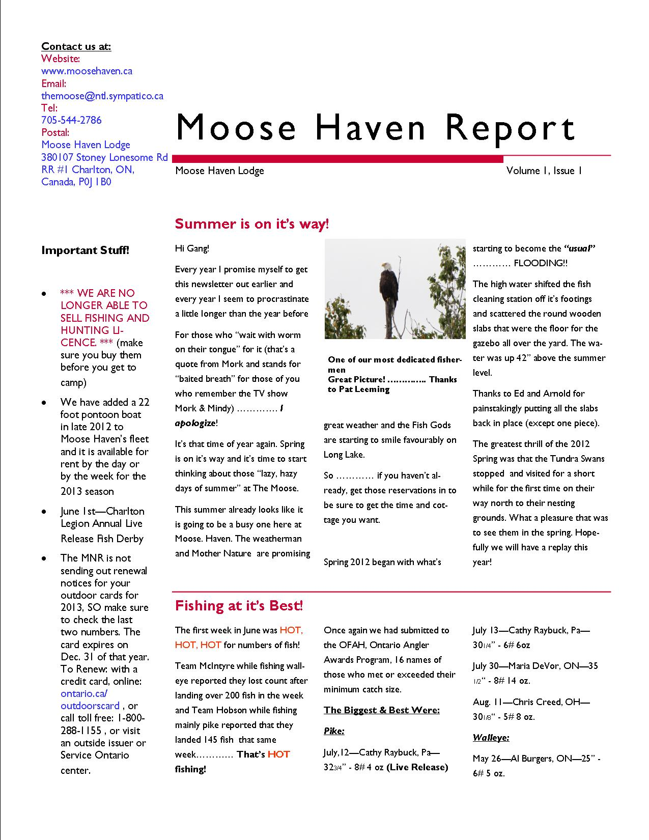 MHL Spring 2013 Newsletter1